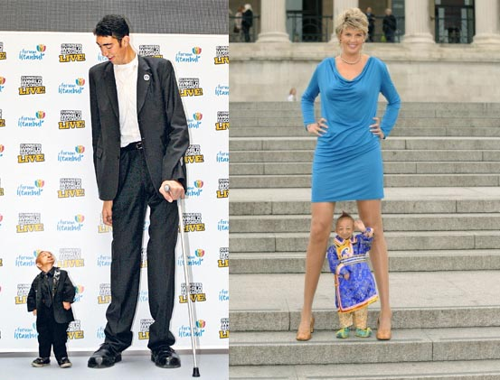 Shortest and tallest woman in the world